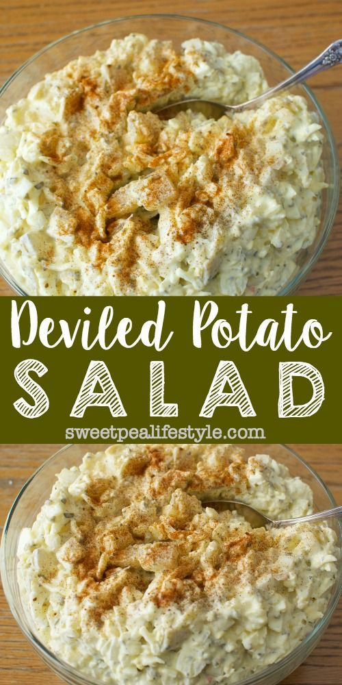 Deviled potato salad deviled eggs potato salad this for How to make deviled egg potato salad