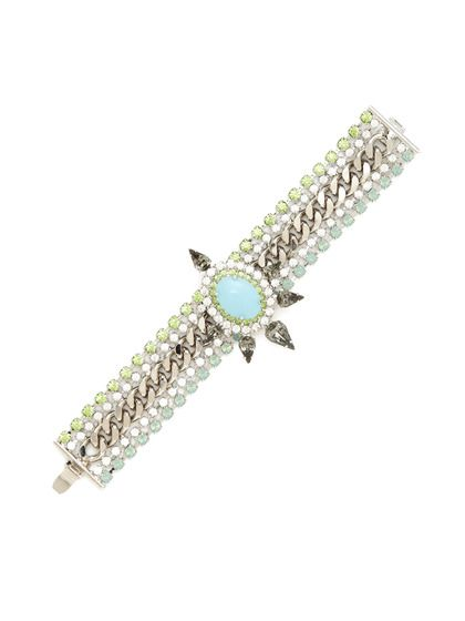 Dylan Floral Station Bracelet by Courtney Lee Collection on Gilt.com