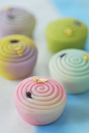 Wagashi. Japanese sweet.  - These look really cute and interesting!