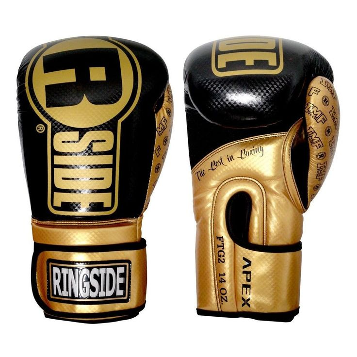 "Ringside ""Apex"" FTG1 Boxing Gloves - Black/Gold"