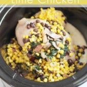 Slow Cooker Cilantro Lime Chicken Recipe | Thriving Home