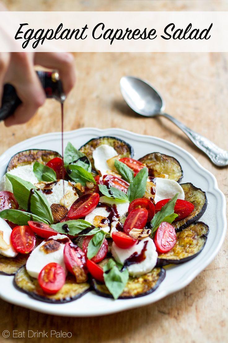 eggplant caprese salad with fried garlic balsamic eggplant caprese ...
