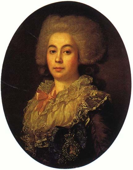 Countess Anna Stepanovna Protasova by Jean-Louis Voille, 1787.