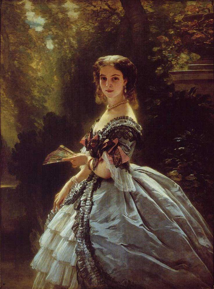 Princess Elisaveta Esperovna Troubetzkaya, by Franz Xaver Winterhalter, 1859, Russia