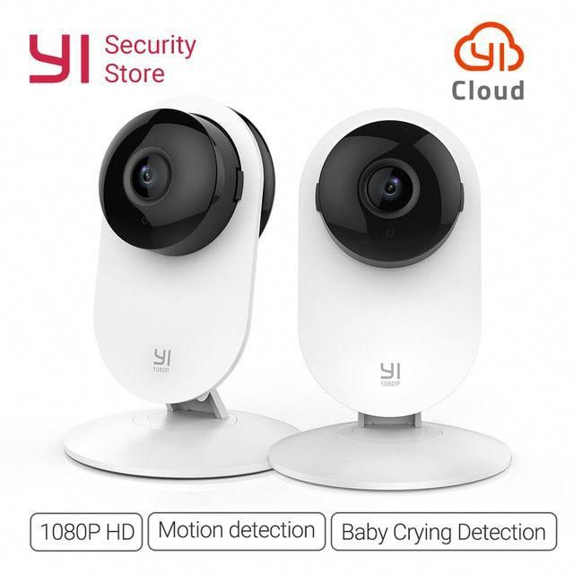Yi Home 1080p Camera 2pcs Night Vision Wireless Ip Bayby Monitor Security Surveillance System W Wireless Home Security Home Security Tips Home Security Systems