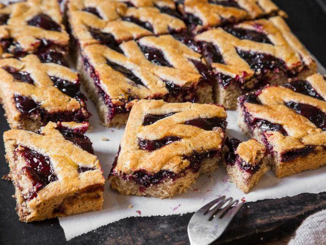 Linzer kuchen auf dem blech