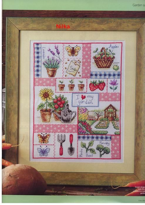 46 CROSS STITCH GOLD SUSAN BATES I love my garden