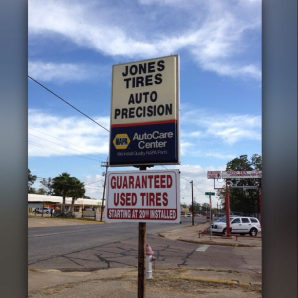 Jones Tire- BEST place for new or used tires in or near Conroe, TX!  Soooo inexpensive and the people are super sweet. Also, really fast. I saved a CRAZY amount of money on my new all terrain tires!