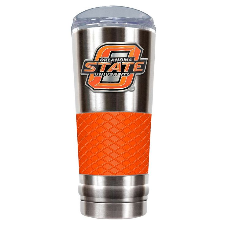 Oklahoma State Cowboys 24-Ounce Draft Stainless Steel Tumbler, Orange