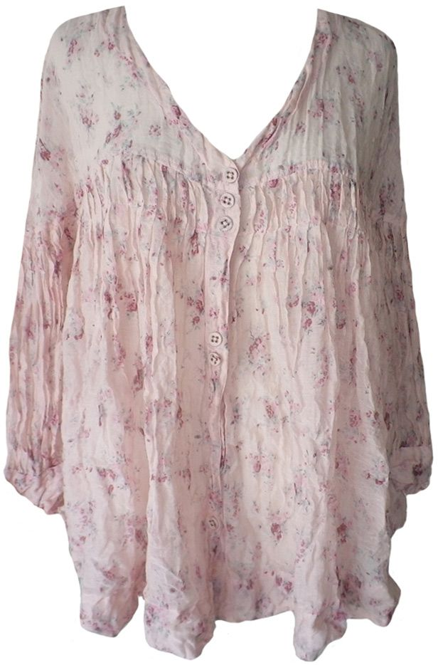 Magnolia Pearl: Antique seashell cotton Nina Top                              …