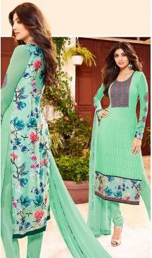 Shilpa Shetty Turquoise Color Georgette Straight Cut Salwar Kameez   FH496476061 Follow us @heenastyle  #shilpashetty #actress #bollywoodactress #star #bollywoodstar #hot #sexy #blue #bollywoodfashion #pretty #hottie #fashion #style #glam #gorgeous #beautiful #instashare #bollywood #stars #sunday #binge #queen #beautiful #news #world #amazing #gorgeous #flower #fans #india #bolly #cute #superdancer #fashion #dress #look #style #world
