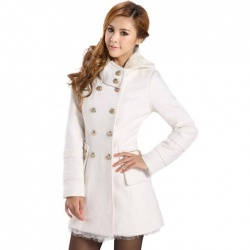 $23.63 Ladylike Long Sleeve Double-Breasted Woolen Comfortable Coat For Women – My style