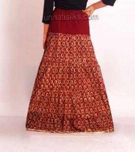 Buy Kalamkari long skirts online, latest fancy designer ladies maxi skirts