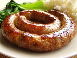 Various home-made Thai sausage recipes.