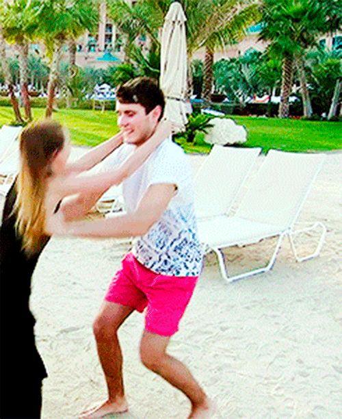 (Just pretend Alfie is wearing black) Alfie) yes! I did it!*kisses Dakota* Dakota) weeee! *laughs*