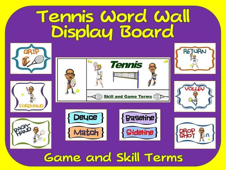 Tennis Word Wall Display: Skill, Graphics & Game Terms