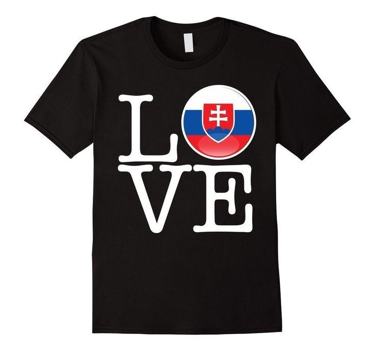 Slovakia Love Slovakia Flag Football vlajka futbal T-Shirt