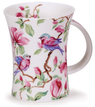Pássaros e flores em Pink.: Bird Patterns, Ideas Jarrón, Tass, Birds Patterns
