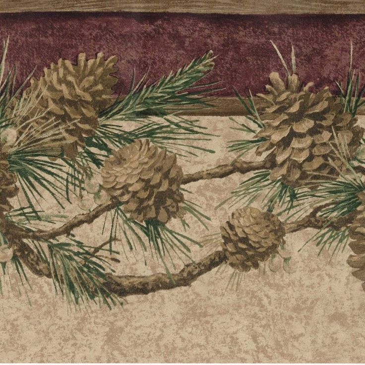 Rustic Golden Pinecones On Branch 45 Feet Only 20