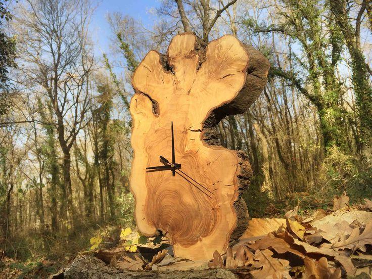 Wall Clock Large, Natural Clock,  Wood Wall Clock, Tree Slice Clock, Wooden Wall Clock, Log Cabin Decor, Rustic Wall Clock, Wood Clock by WoodclockDesign on Etsy