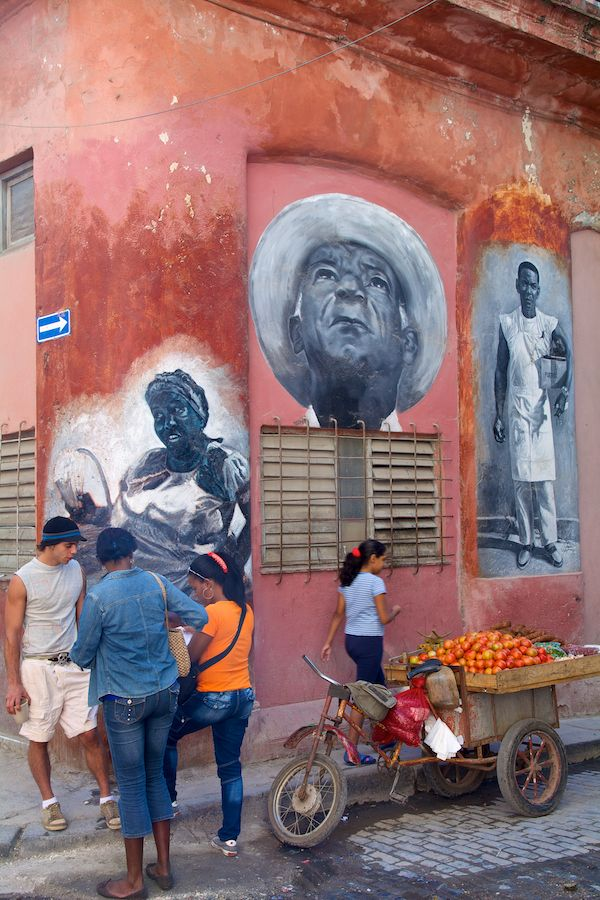 Mobile Fruit Stand - Street Art - Havana, Cuba