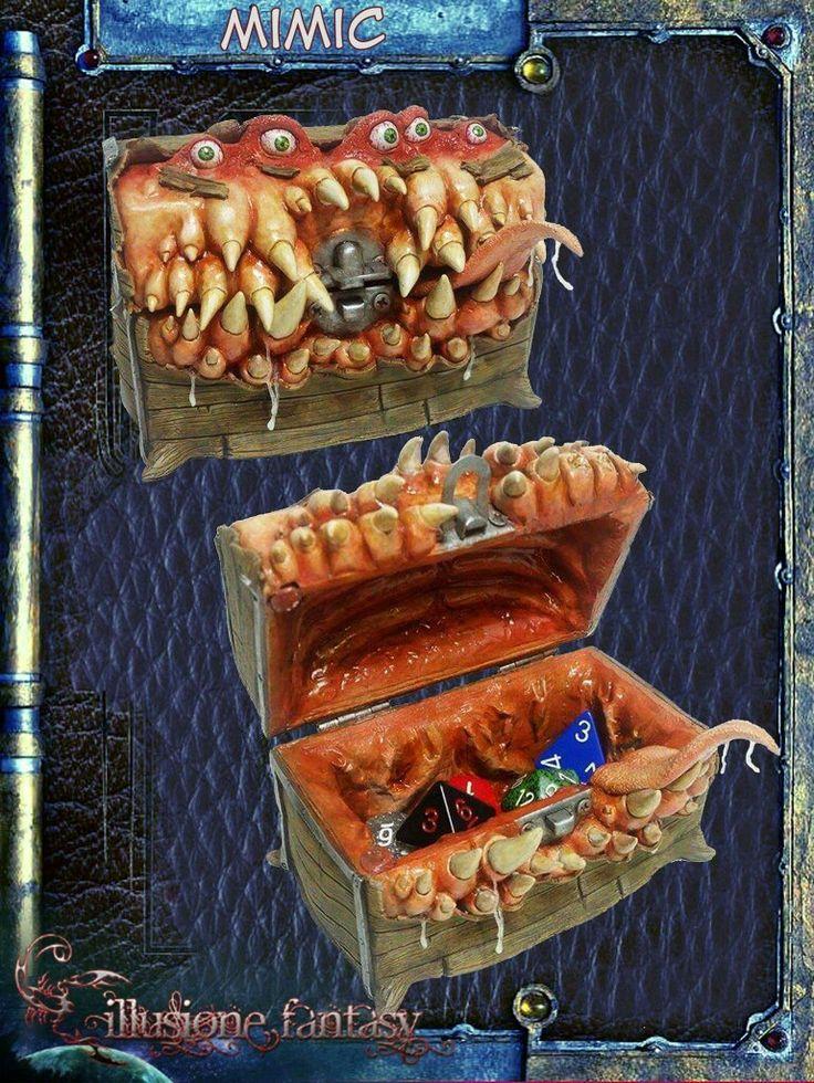 Mimic porta dadi! Ideale per chi gioca a Dungeons&Dragons!