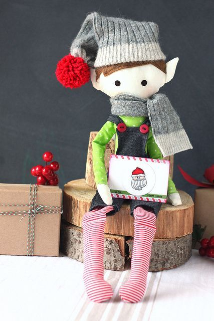 Handmade Elf on the Shelf…  Using Clear & Simple Stamps, Rag Doll Dies…  Love it!.