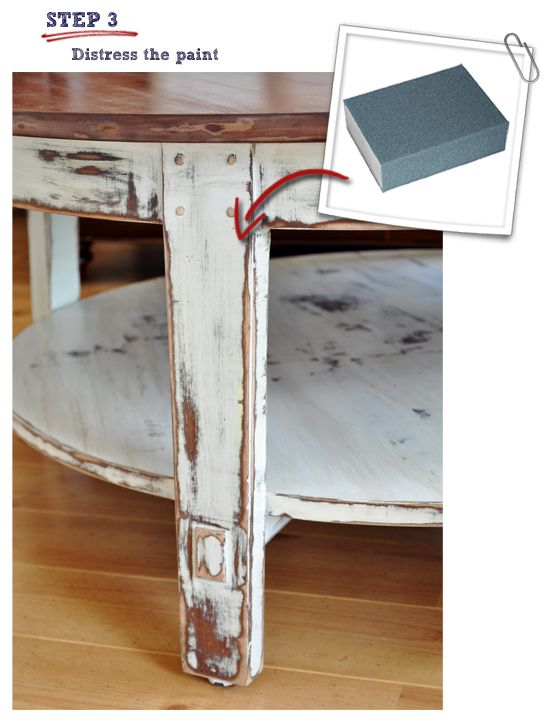 17 best ideas about distressed coffee tables on pinterest for Best paint sheen for kitchen cabinets