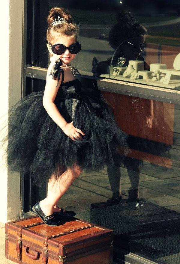 Vestito di Halloween per bambini ispirato al film Colazione da Tiffany