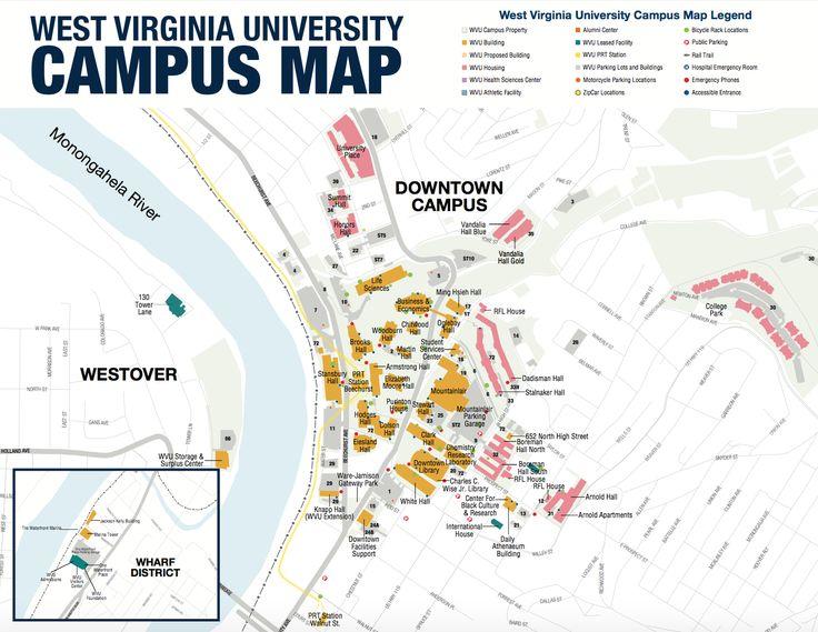37 Best Images About Tour WVU On Pinterest  Campus Map