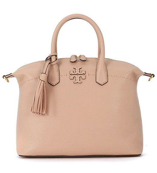 Tory Burch blush pink #handbag with #Gold detailing and #tassle. Perfect compliment to work wardrobe or for brunch with the girls   #Ad