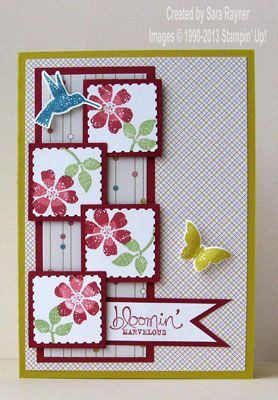 Bloomin' marvelous birthday card - Stampin' Up!