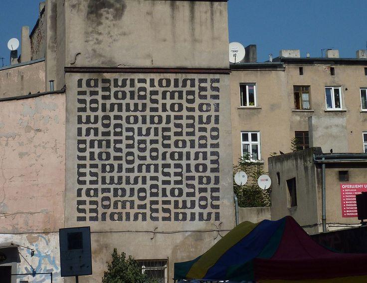 Samuel Szczekacz, Mural na kamienicy przy ulicy Rewolucji 1905 roku nr 10