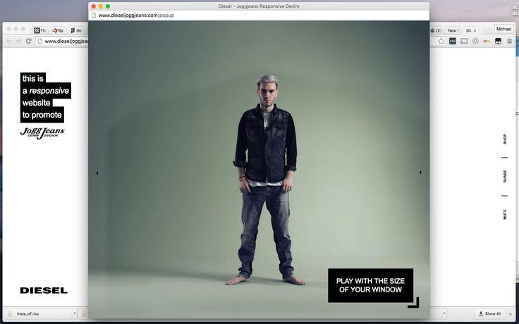 Responsive site, responsive jeans