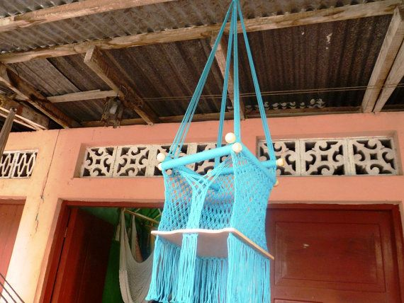Blue Turquoise Happy Baby Chair Hammock for Children by hamanica, $39.00