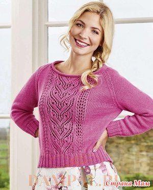 """Описание вязания пуловера от дизайнера Martin Storey переведено из журнала """"Simply Knitting""""."""