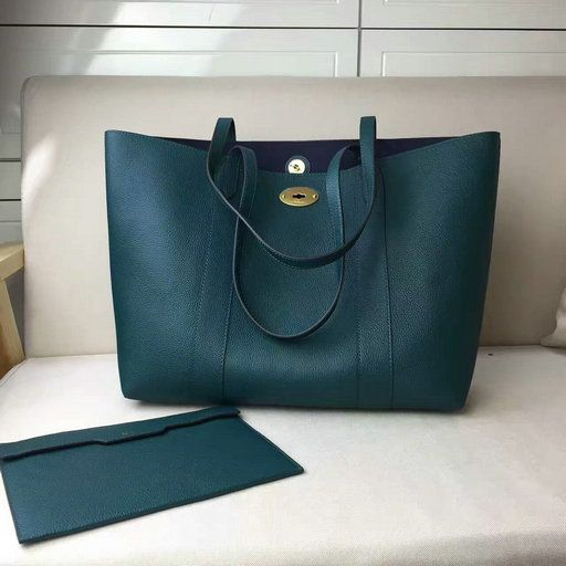 9f7154bbe8 2017 New Mulberry Bayswater Tote Bag in Ocean Green Small Classic Grain  Leather