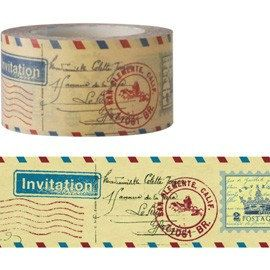 Antique Postmark Washi Tape 25mm X 15M van pikwahchan op Etsy