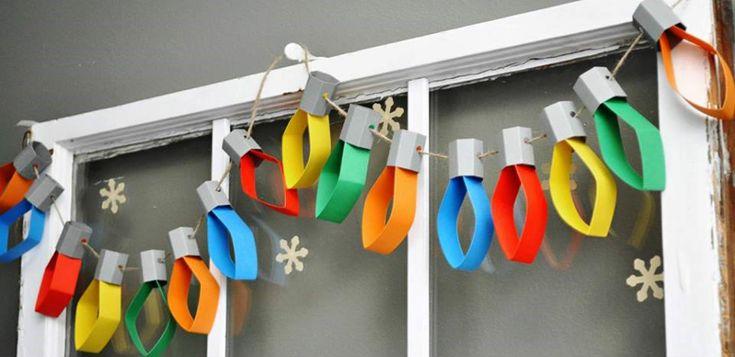 Guirnalda de luces de navidad   Manualidades para niños