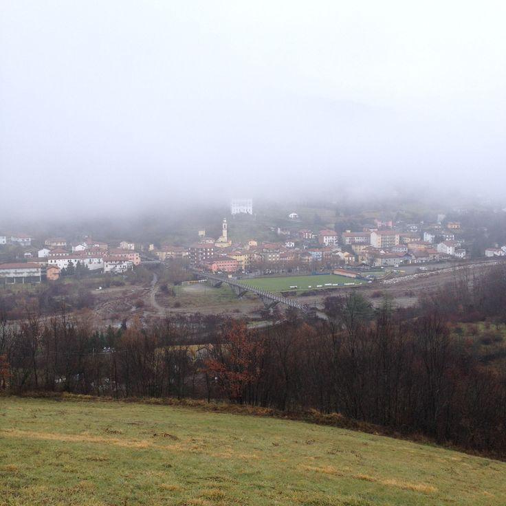 Palazzo Doria in fog