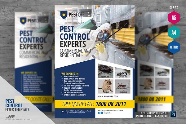 Pest Control Services Company Flyer In 2020 Pest Control Services Pest Control Pests