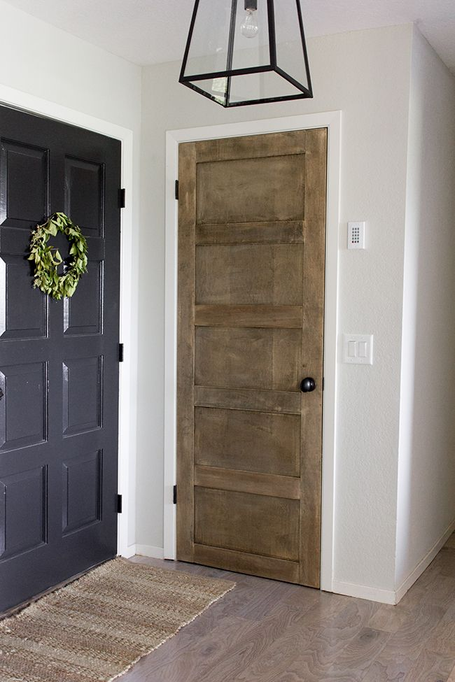 How to Create a Wooden 5 Panel Door by Jenna Sue Design Co featured on @Remodelaholic