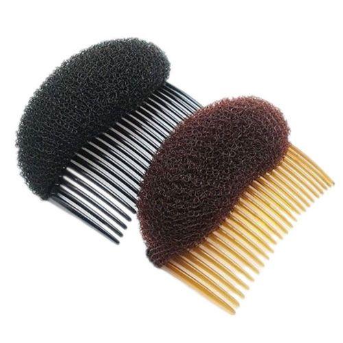Sponge Curler ,Hair Styler Insert Tool ,Hair Comb Brown & Black