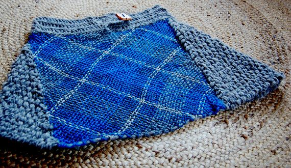 Falda original azul corta escocesa por Ullvuna en Etsy