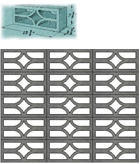 1140 best images about fences and screens on pinterest decorative concrete mid century and - Decorative concrete wall blocks ...