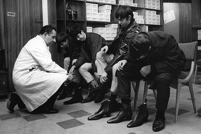 The Beatles Boot Shopping