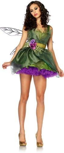 Sexy Woodland Fairy Organza Dress Waist Sash Flower Hair Clip Halloween Costume | eBay