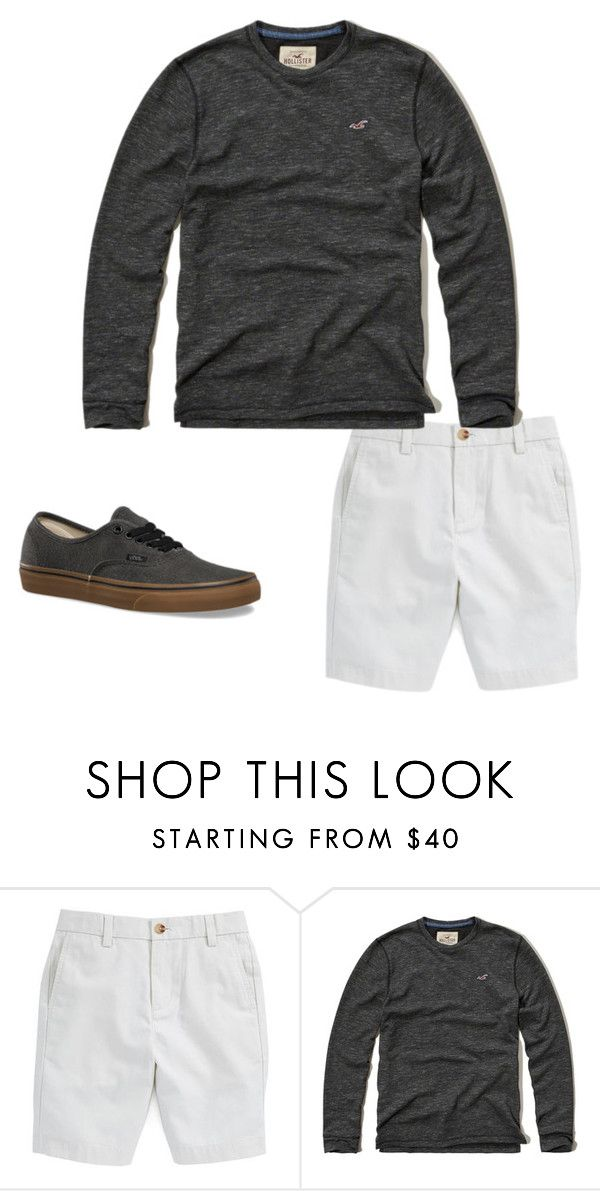 """Boys C 24"" by tobyla on Polyvore featuring Hollister Co., Vans, men's fashion, menswear, vans, hollister and teenboys"