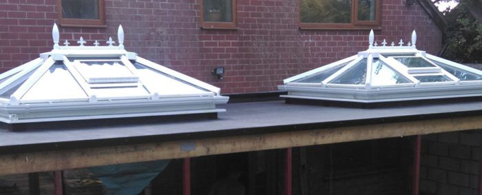 Skylights added to a conservatory