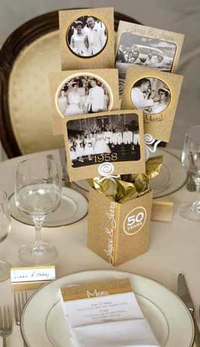 great conversation starter for a dinner party center piece if I use pictures of the people present.